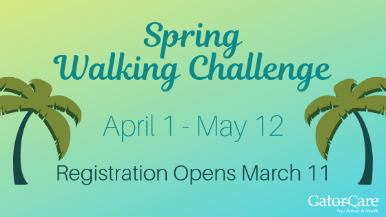 Spring Walking Challenge, April 1- May 12, Registration Opens March 11