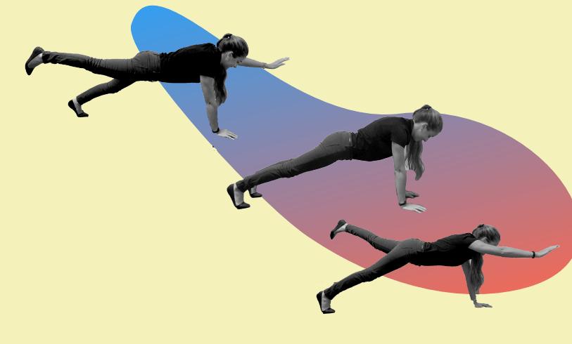 Bird dog plank